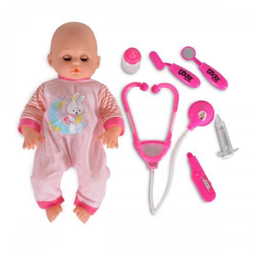 Moni Μωρό Κούκλα με Σετ Γιατρού 3800146266011