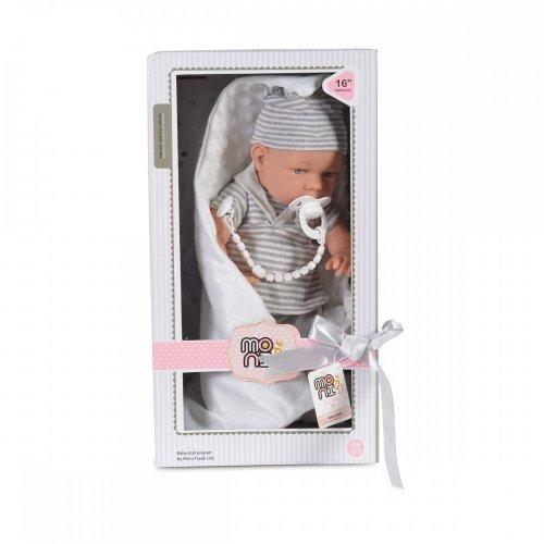 Moni Μωρό Κούκλα με Γκρι Ρούχα 41cm 3800146265762