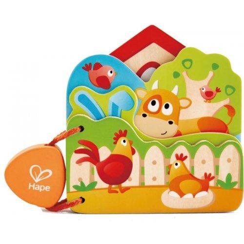 Hape Baby's Farm Animal Book - Βιβλιαράκι Φάρμας - 1Τεμ. E0046A