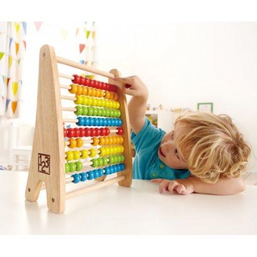 Hape Rainbow Bead Abacus - Πολύχρωμος Άβακας 10 Στηλών - 1Τεμ. E0412A