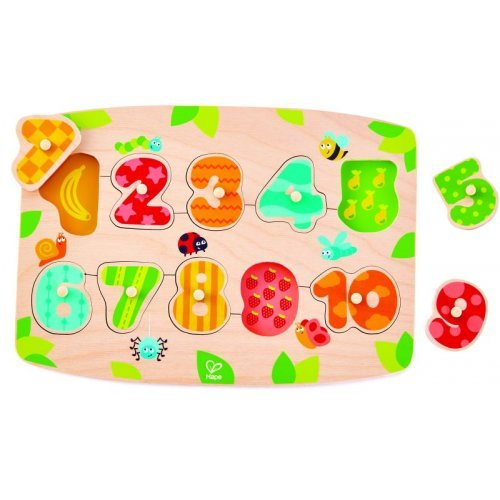 Hape Number Peg Puzzle - Παζλ Αριθμών και Χρωμάτων - 11Τεμ. E1404A