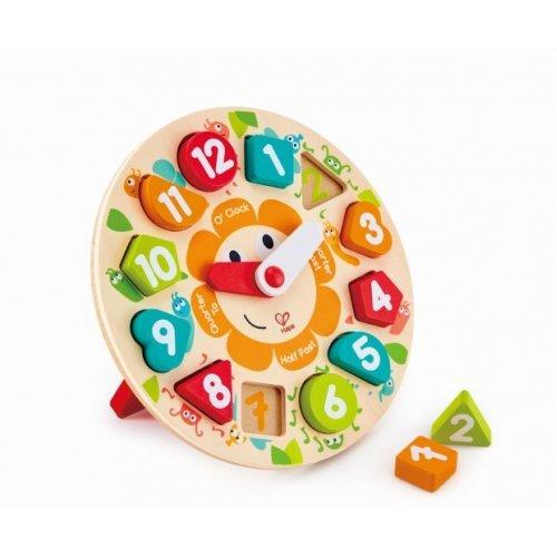 Hape Chunky Clock Puzzle - Παζλ Ρολόι Με Μεγάλους Αριθμούς & Βάση Στήριξης - 13Τεμ. E1622A