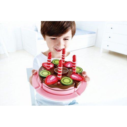 Hape Double Flavored Birthday Cake - Διόροφη Τούρτα Γενεθλίων Με Κεράκια & Ευχετήρια Κάρτα - 23τεμ. E3140A