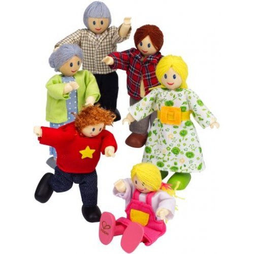 Hape Happy Family - Caucasian - Μια Χαρούμενη Οικογένεια - 6Τεμ. E3500A
