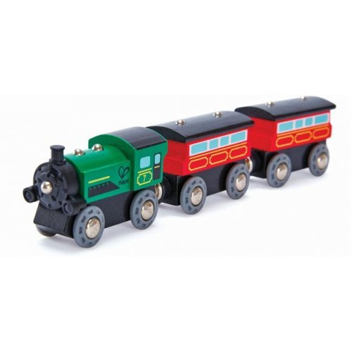 Hape Steam-Era Passenger Train - Ατμομηχανή Επιβατικού Τρένου - 3Τεμ. E3719A