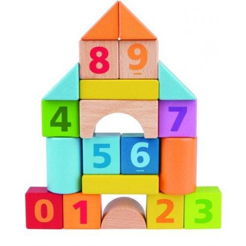 Hape Count 'n' Build Set - Ξύλινα Τουβλάκια Με Αριθμούς - 20Τεμ. E8388A