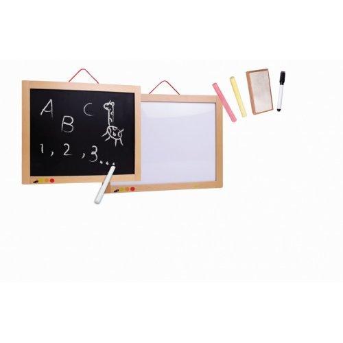 """""""Πίνακας Διπλής Όψης - Μαγνητικός & Μαυροπίνακας Διάσταση 46x34x3εκ)"""" EUREKAKIDS 1303005"""