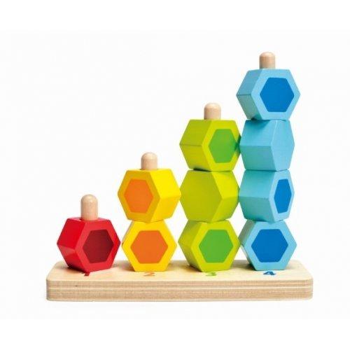 Πύργοι Διασκέδασης Από Πολύχρωμα Σχήματα Που Στοιβάζονται - 11Τεμ. HAPE E0504