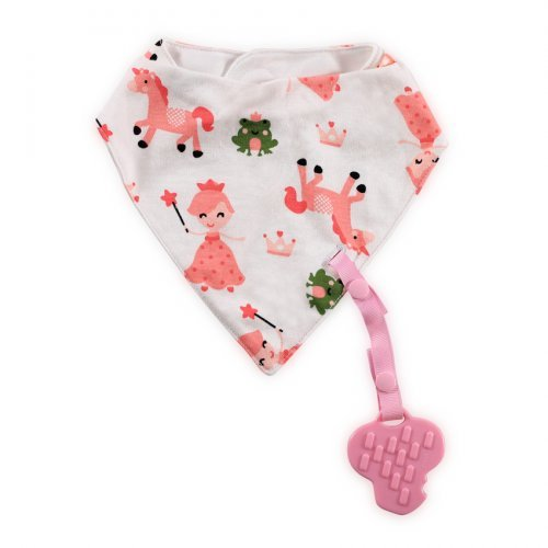 LORELLI ΒΡΕΦΙΚΗ BANDANA BIB WITH TEETHER AND RIBBON 1026018-PINK FAIRY