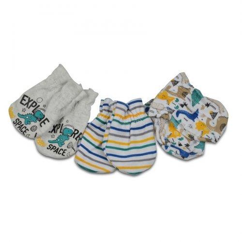 Βρεφικά γαντάκια 4 ζεύγη Cangaroo Baby mittens Kay Blue 3800146265533