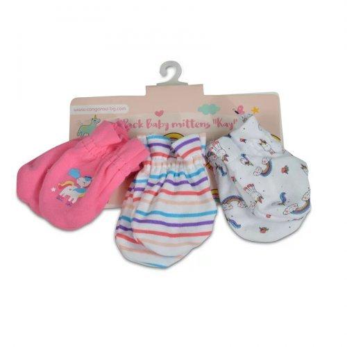 Βρεφικά γαντάκια 4 ζεύγη Cangaroo Baby mittens Kay Pink 3800146265526