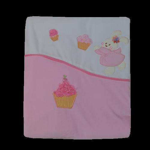 Κουβέρτα Bελουτέ Bebe Stars Cupcake 3025