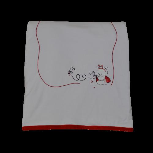 Κουβέρτα Bελουτέ Bebe Stars Red Bee 3035