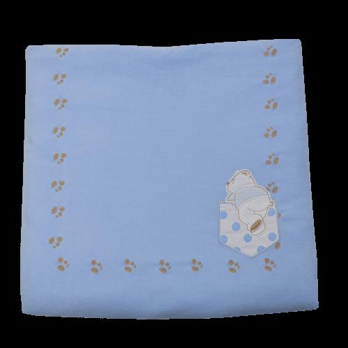 Κουβέρτα Bελουτέ Bebe Stars Stripes Bear 3045