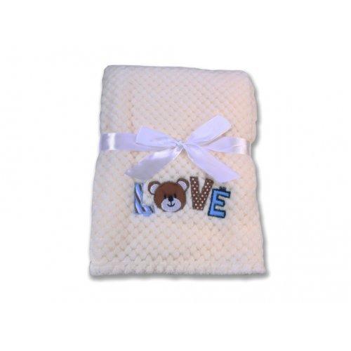 Βρεφική κουβέρτα Fleece Cangaroo Freya White 106850