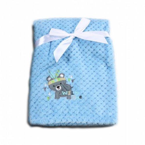 Βρεφική κουβέρτα Fleece Cangaroo Freya Blue 106848