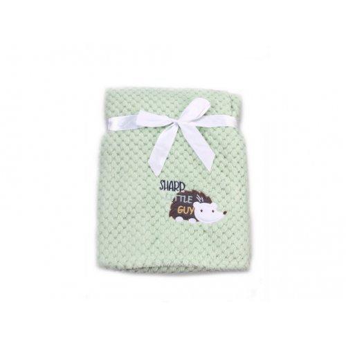 Βρεφική κουβέρτα Fleece Cangaroo Freya Green 106851