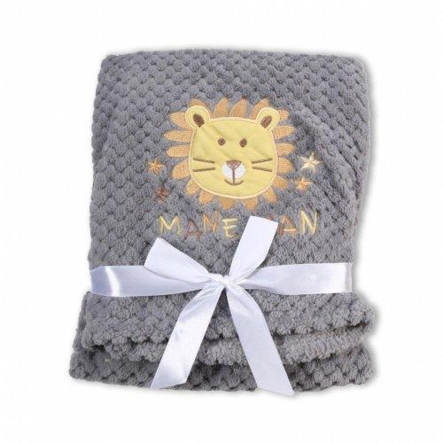 Βρεφική κουβέρτα Fleece Cangaroo Freya Grey 106853