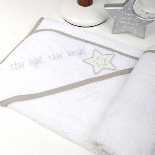 ΜΠΟΥΡΝΟΥΖΙ ΤΡΙΓΩΝΟ BABY OLIVER 75X75CM STAR LIGHT STAR BRIGHT GREY 46-6730/146