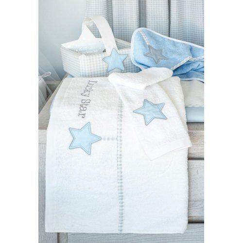 ΜΠΟΥΡΝΟΥΖΙ ΤΡΙΓΩΝΟ BABY OLIVER 75X75CM LUCKY STAR BLUE 46-6730/309