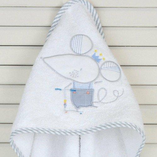 ΜΠΟΥΡΝΟΥΖΙ ΤΡΙΓΩΝΟ BABY OLIVER 75X75CM SLEEPY MOUSE ΡΕΛΙ ΡΙΓΕ CIEL 46-6730/351