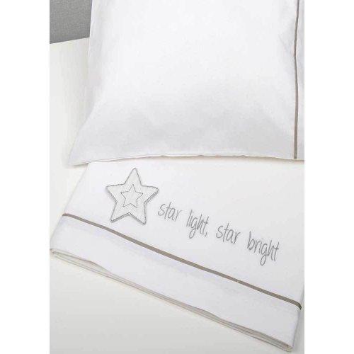 ΣΕΝΤΟΝΙΑ ΣΕΤ 3TEM BABY OLIVER 110X165CM STAR LIGHT STAR BRIGHT GREY 46-6706/146