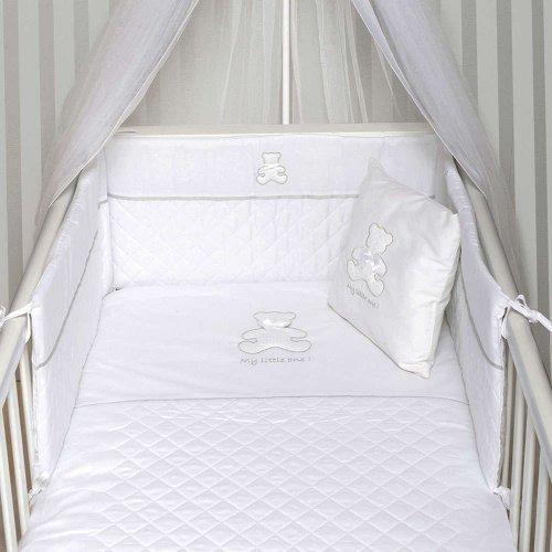 ΣΕΝΤΟΝΙΑ ΣΕΤ 3TEM BABY OLIVER 110X165CM MY LITTLE ONE WHITE 46-6706/330