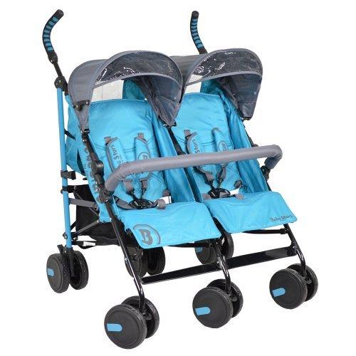 Παιδικό καρότσι Διδύμων Bebe Stars Twin Lux Blue 7801-181