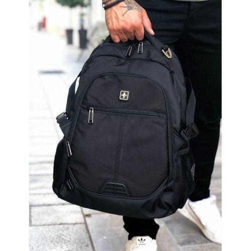 Ανδρική μαύρη τσάντα μηχανής Suissewin Airflow System SN9510