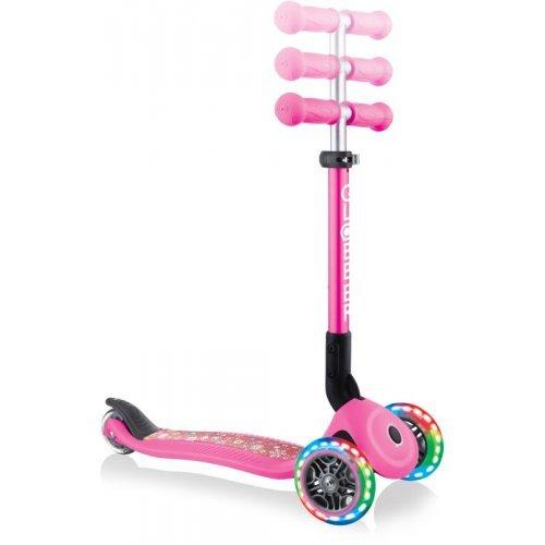 Globber Scooter Junior Foldable Fantasy Lights Flowers Neon Pink 433-110 - (ΔΩΡΟ AΞΙΑΣ €5 ΚΟΥΔΟΥΝΙ ΠΥΞΙΔΑ)