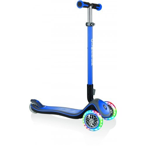 GLOBBER SCOOTER ELITE DELUXE LIGHTS NAVY BLUE 444-400 - (ΔΩΡΟ AΞΙΑΣ €5 ΚΟΥΔΟΥΝΙ ΠΥΞΙΔΑ)