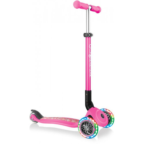 Globber Scooter Primo Foldable Fantasy Lights Flowers Neon Pink 434-110 - (ΔΩΡΟ AΞΙΑΣ €5 ΚΟΥΔΟΥΝΙ ΠΥΞΙΔΑ)