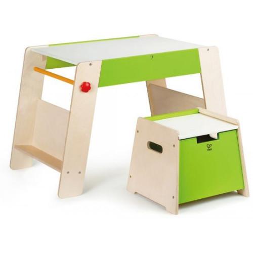 Παιδικό Τραπεζάκι Για Παιχνίδι,Μελέτη & Φαγητό Με Καρεκλάκι Που Αποθηκεύει - 2Τεμ. HAPE E1015