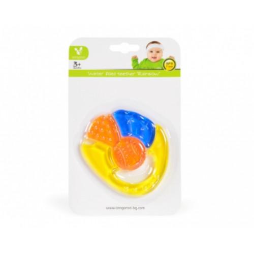 Μασητικό οδοντοφυΐας με νερό Rainbow Yellow Cangaroo 104532